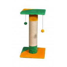 Когтеточка (дряпка) Мур-Мяу Луна в джутовой веревке Желто-зеленая