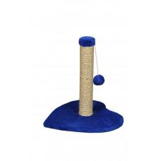Когтеточка (дряпка) Мур-Мяу Амурчик-1 в джутовой веревке Синяя