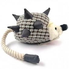 Игрушка Flamingo Hedgehog Plush с веревочным хвостом для собак с пищалкой 45х10х15 см