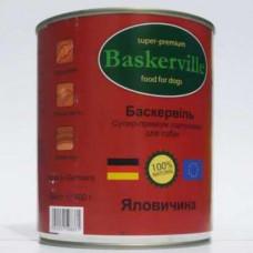 Влажный корм Baskerville для собак, говядина 400 г