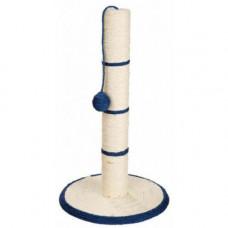 Дряпка Trixie столб, для кошек, круглая, на подставке, 62х35х62 см, темно-синяя