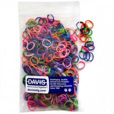Резинка Davis Neon для шерсти, диаметр 0.6см, 50шт