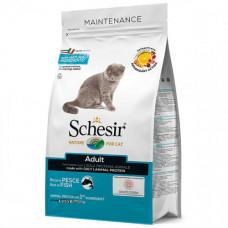 Сухой корм Schesir Cat Adult Fish с рыбой, монопротеиновый, для врослых котов, 1.5кг