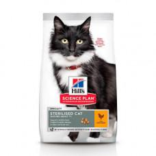 Сухой корм Hills Science Plan Mature Sterilised Cat для кошек с курицей, 1.5кг