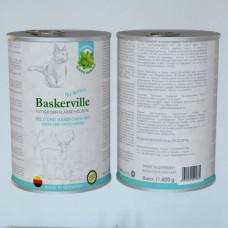 Влажный корм Baskerville для котов, оленина с кроликом и кошачьей мятой, 400 г
