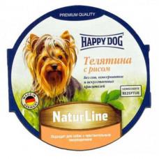 Влажный корм Happy Dog NaturLine для взрослых собак до 10 кг с чувствительным пищеварением, с телятиной, 85 г