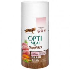 Беззерновой сухой корм Optimeal для взрослых кошек, с индейкой и овощами, 650 г