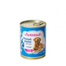 Консерва Леопольд для собак рацион с птицей 360гр
