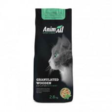 Древесный наполнитель AnimAll для кошек, с ароматом мяты, 2,8 кг