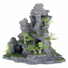 Грот для рыбок Trixie - Скалы с пещерой с растениями, 31.5 см