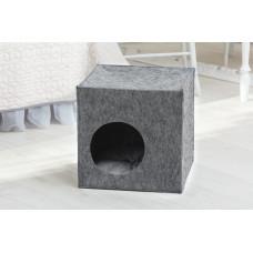 Домик для животных без подушки Digitalwool Куб 40 x 40 x 40 см Серый