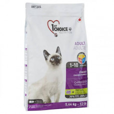 Сухой корм 1st Choice Adult Finicky Chicken для активных кошек от 1 до 10 лет, с курицей и финиками, 350гр