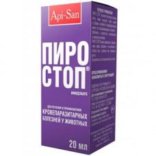 Раствор для инъекций Api-San Пиро-стоп для лечения пироплазмоза для собак, КРС, МРС, лошадей, 20 мл