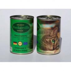 Влажный корм Baskerville для котов, оленина с мясом курицы, 400 г