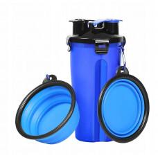 Туристический контейнер с миской для животных Синий