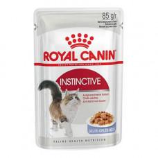 Влажный корм Royal Canin Instinctive для кошек, кусочки в желе, 85 г
