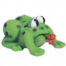 Игрушка Flamingo Frog Pop-Up Tongue для собак и щенков 11х10х6.5 см
