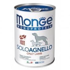 Влажный корм MONGE DOG SOLO 100% ягнёнок 0,4 кг