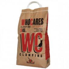 Наполнитель WC WhoCares Clumping комкующийся, в кошачий туалет, 5кг