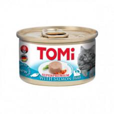 Консервы Tomi Salmon с лососем, для котов, мусс, 85гр