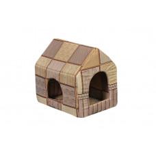 Домик-лежак (лежанка) для котов и собак Мур-Мяу Будочка Бежевый