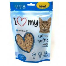 Вкусные мясные лакомства I Love My Cat для кошек с кошачьей мятой, 250 г