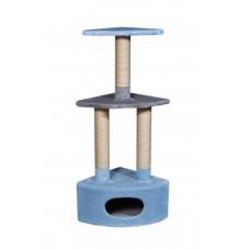 Домик-когтеточка (дряпка) Мур-Мяу Угловой - 2 в джутовой веревке Голубо-серый