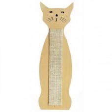 Когтеточка Flamingo Scratching Sisal Cat Shape настенная для кошек в форме кота 59х21 см