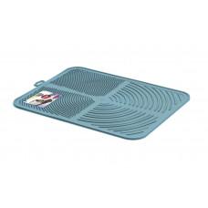 Пластиковый коврик GeorPlast Alladin под туалет 41.5х32см Синий