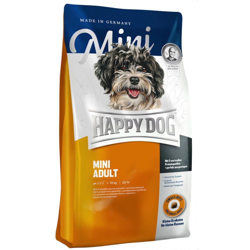 Cухой корм для взрослых собак мелких пород весом до 10 кг Happy Dog Mini Adult 1 кг