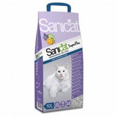 Комкующийся наполнитель Sanicat SuperPlus для кошачьих туалетов с ароматом апельсина и лаванды, 10л
