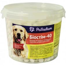 Витаминно-минеральная добавка Palladium Биостим-40 для укрепления здоровья собак, 1000 табл. по 2 г