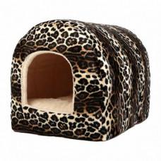 Домик-арка меховая для собак и кошек, 37 х 43 х 35 см