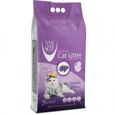 Бентонитовый наполнитель туалетов для кошек VanCat Lavender 5 кг