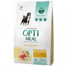 Сухой корм Optimeal для взрослых собак крупных пород, с курицей, 4кг