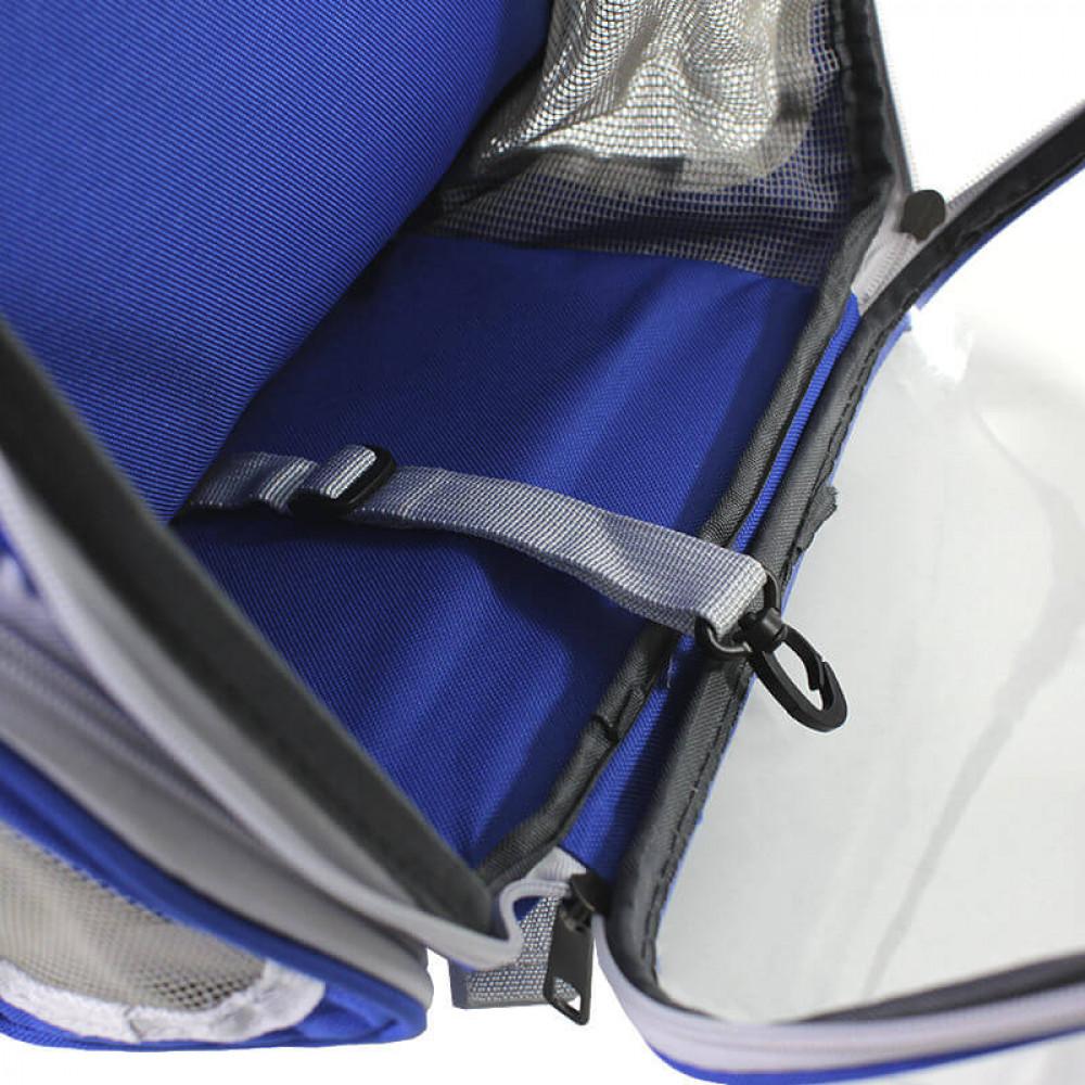 Рюкзак-переноска для кошек Taotaopets 253304 Panoramic 35x25x42cm Синий