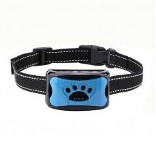 Ошейник антилай ультразвуковой вибрационный для маленьких и средних собак Pecute Y-7, голубой (03116)