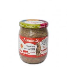 Консерва Леопольд деликатес для котов с телятиной и креветками 500 г (109074)