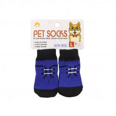 Антискользящие носки для собак Taotaopets 331 Синий L (6218-20740)