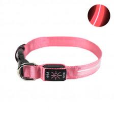 LED ошейник светодиодный Friend CR2032 Pink S