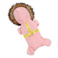 Комбинезон с капюшоном для собак Hoopet HY-Y2256 Розовый S (6394-20689)