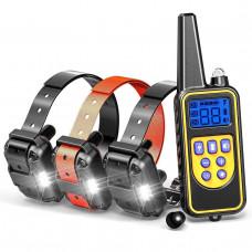 Электроошейник для дрессировки собак Pet DTC-800 с 3-мя ошейниками