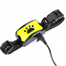 Ультразвуковий нашийник антилай для собак Pecute Y-8 Жовтий