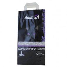 Бентонитовый наполнитель туалетов для кошек AnimAll с ароматом лаванды 5 кг (65252)