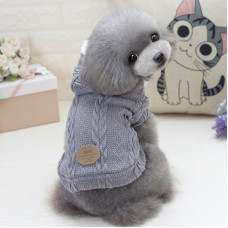 Кофта для собак с капюшоном Dog Baby EST.1978 Серый L (6221-20435)