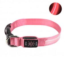 LED ошейник светодиодный Friend CR2032 Pink L