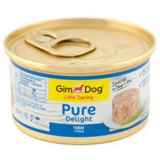 Влажный корм GimDog LD Pure Delight для карликовых и малых пород собак, с тунцом, 85 г
