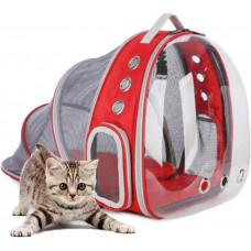 Прозрачный рюкзак Lollimeow с расширителем для переноски и прогулок кошек и домашних животных (DYEX-SN043)