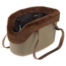 Мягкая переноска Ferplast With-Me Bag Winter Sand для мелких собак до 8 кг, коричневая, 43.5×21.5×27 см