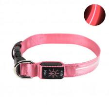 LED ошейник светодиодный Friend CR2032 Pink M